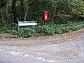 Post box at junction of lanes - geograph.org.uk - 1525905.jpg
