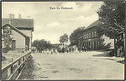 Old postcard view of Orehoved, Falster