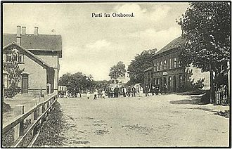 Orehoved - Old postcard view of Orehoved, Falster