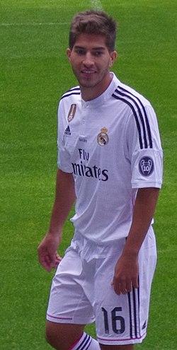 Lucas Silva em sua apresentação pelo Real Madrid fb6dc0ace0ad1