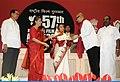 Pratibha Devisingh Patil presenting the Swarna Kamal Award to Shri Rituparno Gosh for the Best Direction (Bengali Film Abohomaan), at the 57th National Film Awards function, in New Delhi on October 22, 2010.jpg