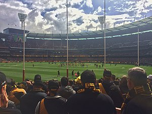 2017 AFL Grand Final - The view from the Great Southern Stand at the Melbourne Cricket Ground prior to the match.