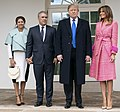 President Trump and the First Lady Welcome Colombian President Iván Duque Márquez and his wife Mrs. Maria Juliana Ruiz Sandoval to the White House (32144037107) (cropped).jpg