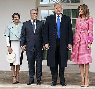 Colombia–United States relations - Colombia President Iván Márquez with U.S. President Donald Trump in the White House, February 2019.