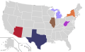 Presidential Candidate Home State Locator Map, 1964 (United States of America) (Expanded).png