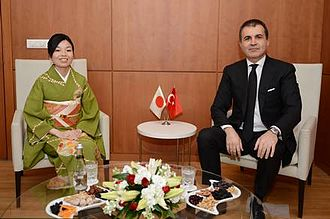 Princess Akiko of Mikasa - Princess Akiko meeting Ömer Çelik, Minister of Culture and Tourism, in Turkey on 27 April 2014