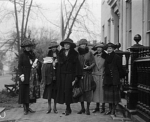 Mabel Vernon - Image: Prominent women at equal rights conference at Woman's Party