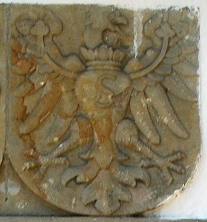 Coat of arms of Prussia - Image: Prostki Coat of arms of Prussia slup graniczny 1545