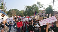 Protest against military coup (9 Feb 2021, Hpa-An, Kayin State, Myanmar) (1).jpg