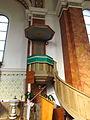 Pulpil in church of Saint Mark in Benetice, Třebíč District.JPG