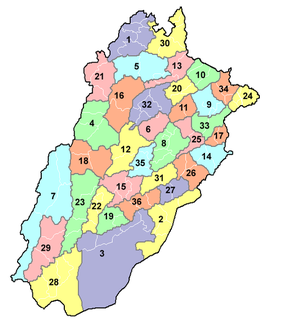 Punjab districts