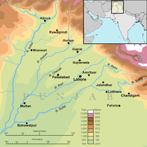 Punjab map (topographic) with cities.png