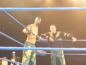 Jigsaw (wrestler) - Jigsaw and Mike Quackenbush in April 2011