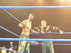 Jigsaw (wrestler) - Jigsaw and Mike Quackenbush in April 2011