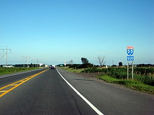 Quebec Autoroute 55 - Image: Quebec Autoroute 55 South