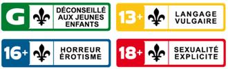 Canadian motion picture rating system - Régie du cinéma Ratings Labels