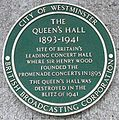 Queen's Hall plaque London.jpg