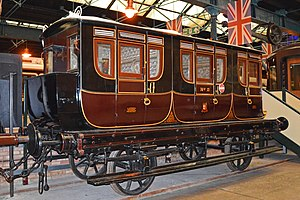 British Royal Train - A special carriage built by the London and Birmingham Railway in 1842 for Queen Dowager Adelaide
