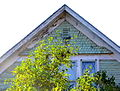 Queen Anne shingles on cottage at 902 Seldon Road.JPG