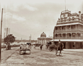 Queensland State Archives 2193 Petrie Bight showing National Hotel and Customs House Brisbane 1898.png