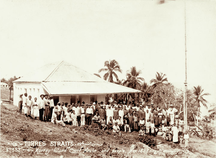 Meer Island-Post European settlement (1872)-Queensland State Archives 2531 Murray Island court house and people 1898