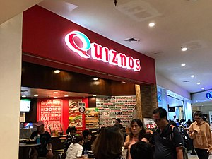 Quiznos - One of the first Quiznos branches in the Philippines.