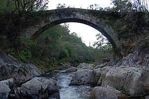 Lérez - The Lérez river at San Xurxo de Sacos, Cotobade.