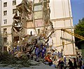 RIAN archive 79286 Rescuers clean up apartment building rubble after a home gas explosion.jpg