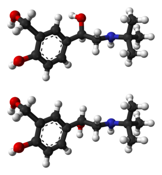 Salbutamol - Image: RS salbutamol from xtal 3D balls
