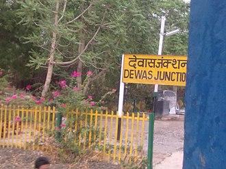 Dewas - Rail station board