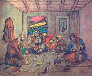 Ramadan - Azim Azimzade. Ramadan of the poor people. 1938