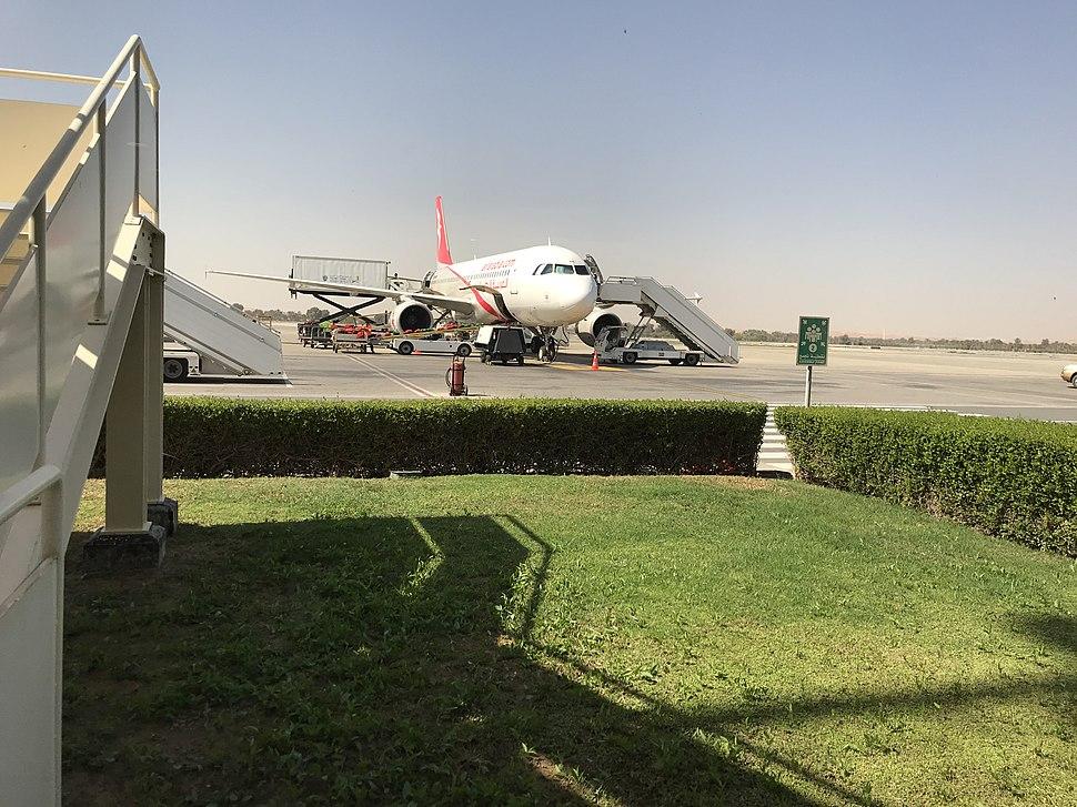 Ras Al Khaimah Airport - Airside Area with an A320 aircraft