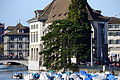 Rathaus Zürich - Helmhaus-Wasserkirche - Limmat - Quaibrücke 2013-09-21 16-55-39.JPG