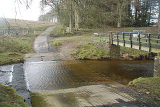 Ford (crossing) Shallow place with good footing where a river or stream may be crossed by wading