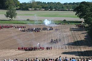 Battle of Cheriton - Image: Re enactment of the Battle of Cheriton
