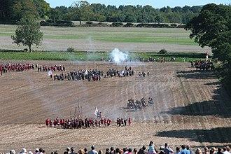 Battle of Cheriton - Image: Re enactment of the Battle of Cheriton