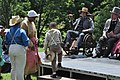 Re-enactment of the moment Booker T. Washington and his family was emancipated.jpg