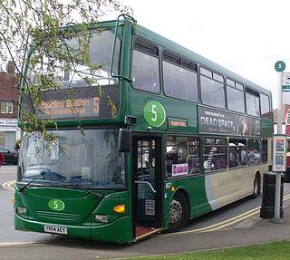 A double-decker bus built by East Lancashire Coachbuilders