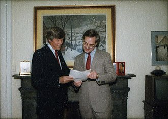 Christopher DeMuth - DeMuth with Connie Mack in 1984