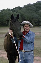 President Ronald Reagan demonstrated the popularity of the cowboy hat as a  movie star bb9e79c0d11a