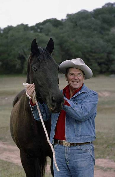 388px-Reagan_with_horse.jpg