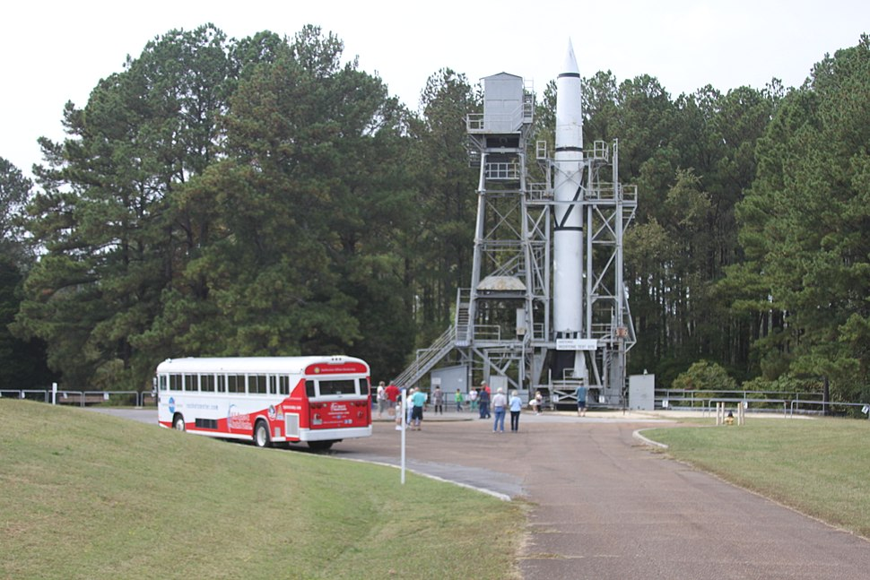 Redstone Test Stand with USSRC tour bus