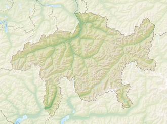 Reliefkarte Graubünden blank