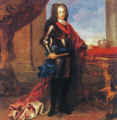 Retrato de D. João V (c. 1725) - Domenico Duprà (Tecto da Sala dos Tudescos, Paço Ducal de Vila Viçosa).png