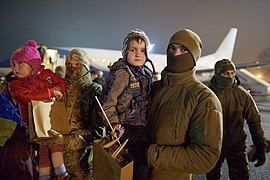 Returning of Ukrainian women and children from Syrian refugee camp 05.jpg