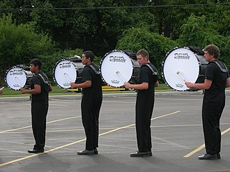 Bass drum - Revolution's bass drums warm up in 2007.