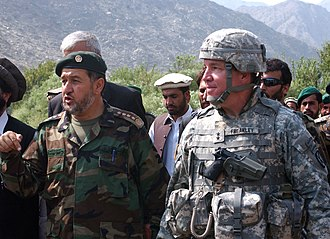 Bismillah Khan Mohammadi - Bismillah Khan as Army Chief of Staff during the inauguration ceremony for a new bridge in Afghanistan's Kunar province