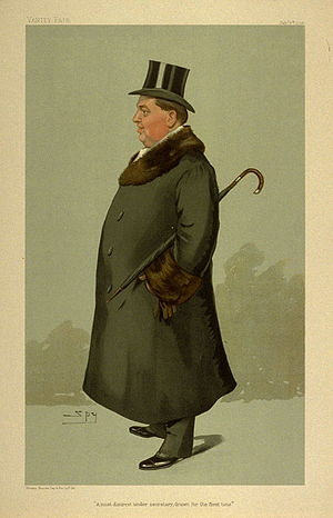 "Richard Hely-Hutchinson, 6th Earl of Donoughmore - ""A most discreet under secretary, drawn for the first time"". Caricature by Spy in Vanity Fair February 1905"