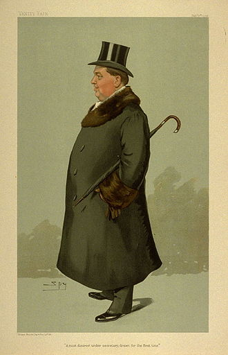 """Richard Hely-Hutchinson, 6th Earl of Donoughmore - """"A most discreet under secretary, drawn for the first time"""". Caricature by Spy in Vanity Fair February 1905"""