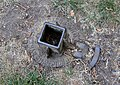 Richmond Park, old metal post holder, near Thatched House Lodge.jpg